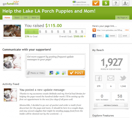 Help the Lake LA Porch Puppies and Mom! by Lance Brown - GoFundMe - 115